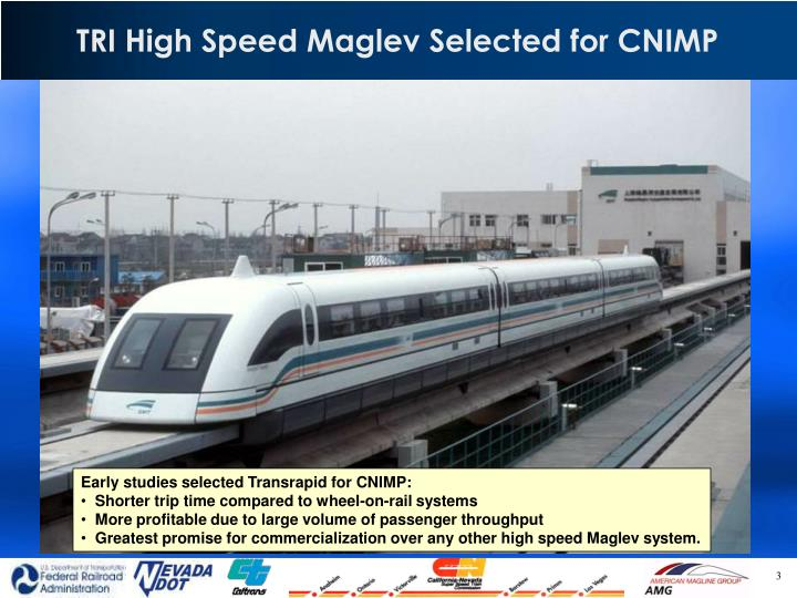 TRI High Speed Maglev Selected for CNIMP