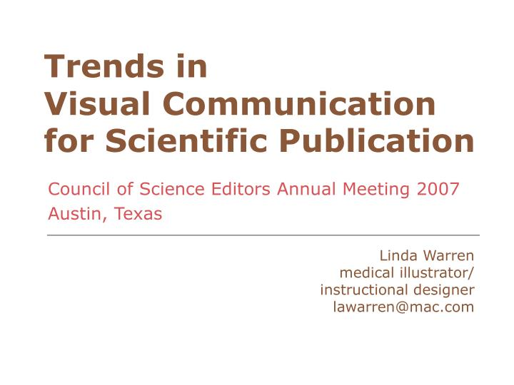 trends in visual communication for scientific publication n.
