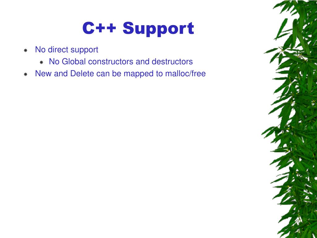 C++ Support