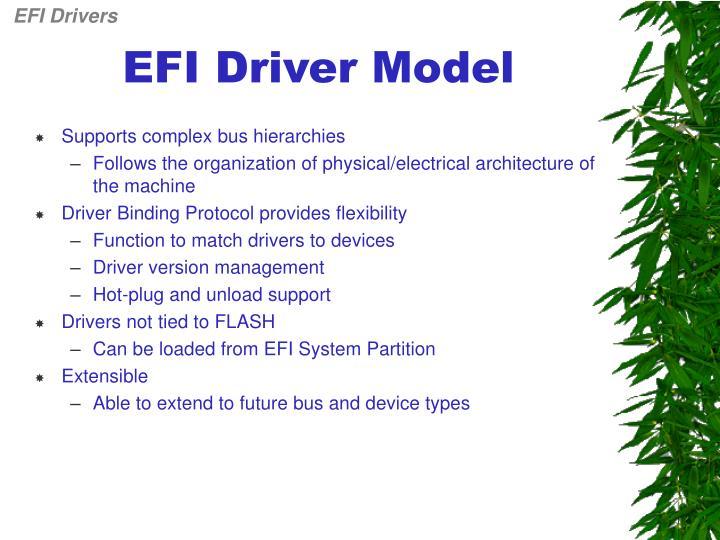 Efi driver model