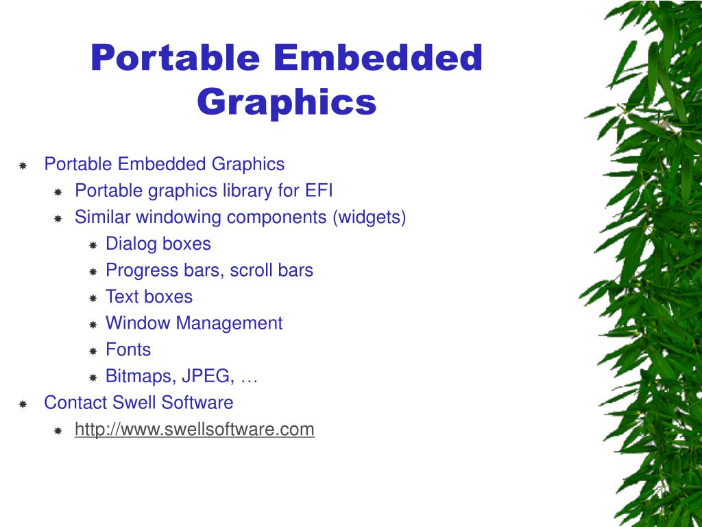 Portable Embedded Graphics