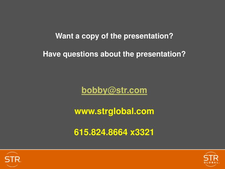 Want a copy of the presentation?