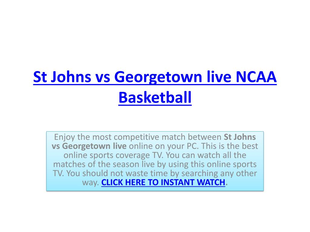 st johns vs georgetown live ncaa basketball l.