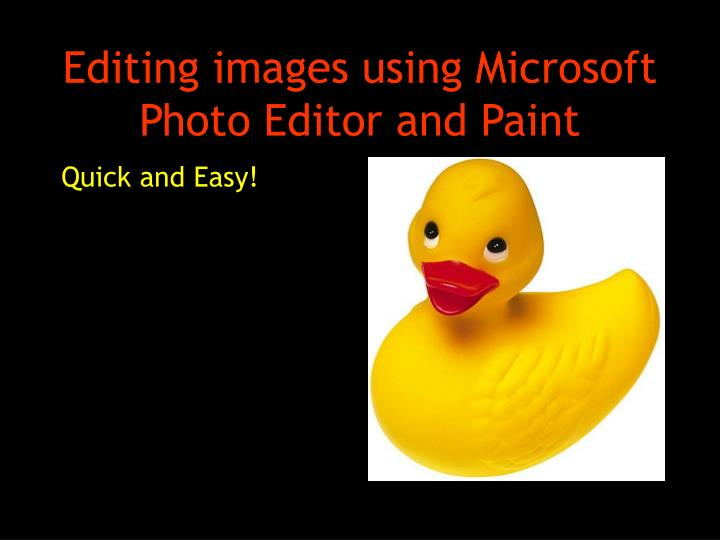 editing images using microsoft photo editor and paint n.