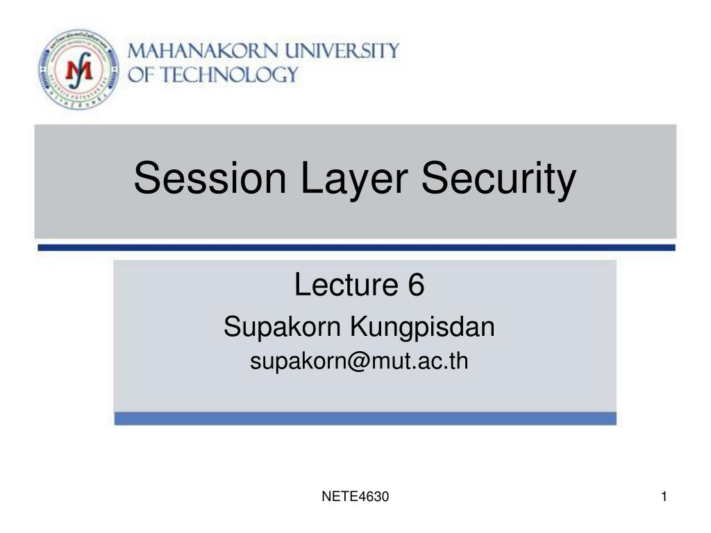 session layer security l.