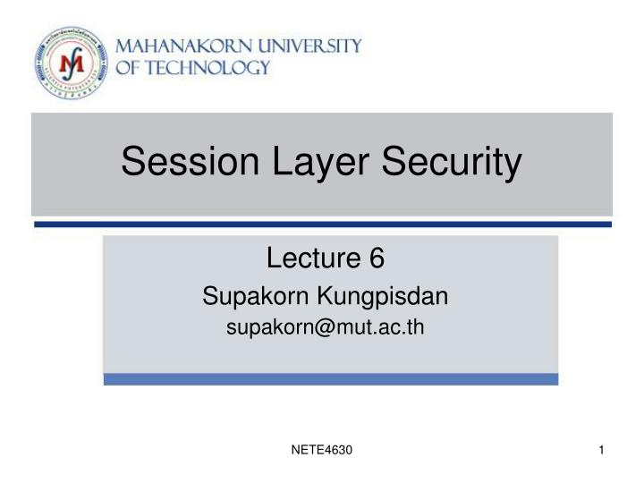 session layer security n.
