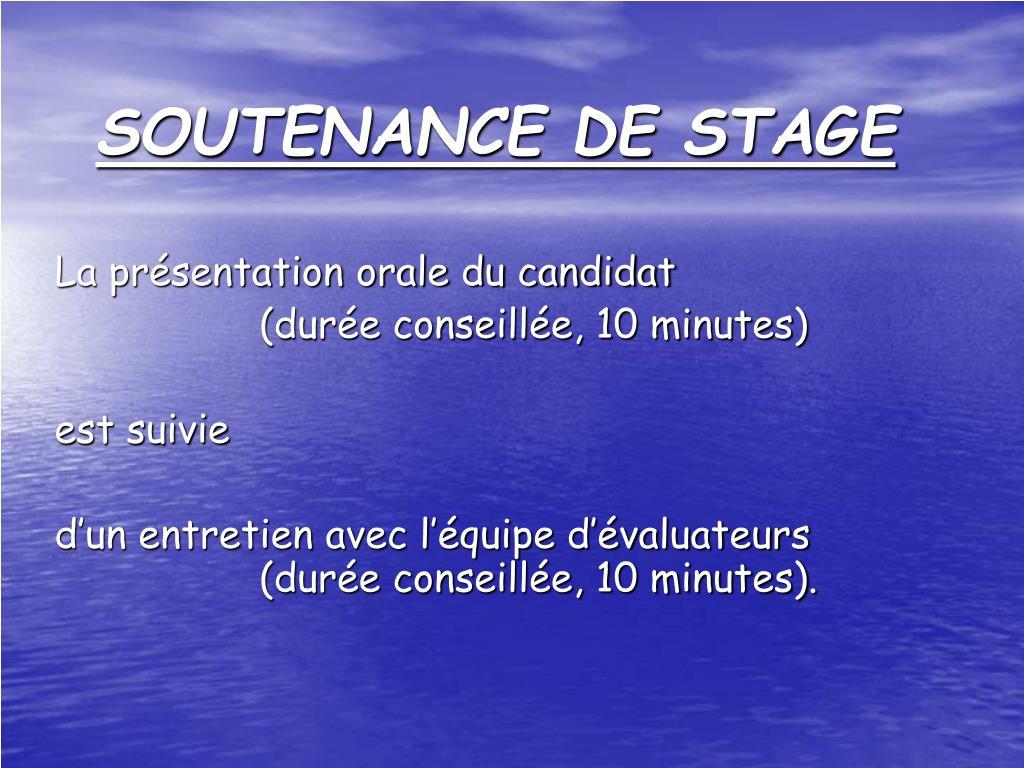 Ppt Soutenance De Stage Powerpoint Presentation Free
