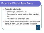 from the district task force