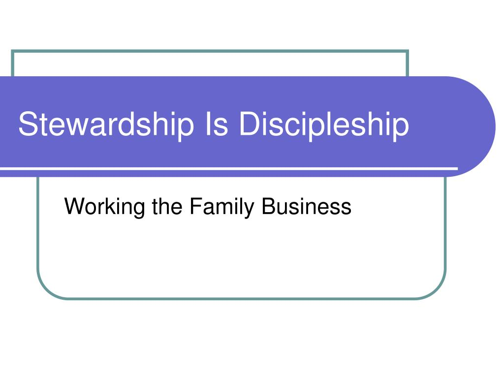 stewardship is discipleship l.