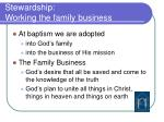 stewardship working the family business