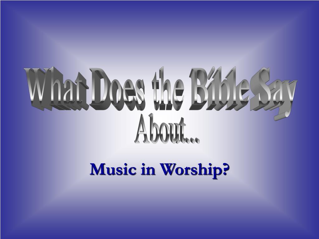 music in worship l.