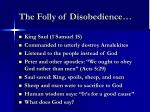 the folly of disobedience5