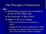 the principle of submission