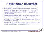 3 year vision document