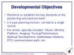 developmental objectives