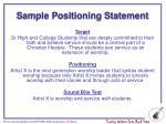 sample positioning statement