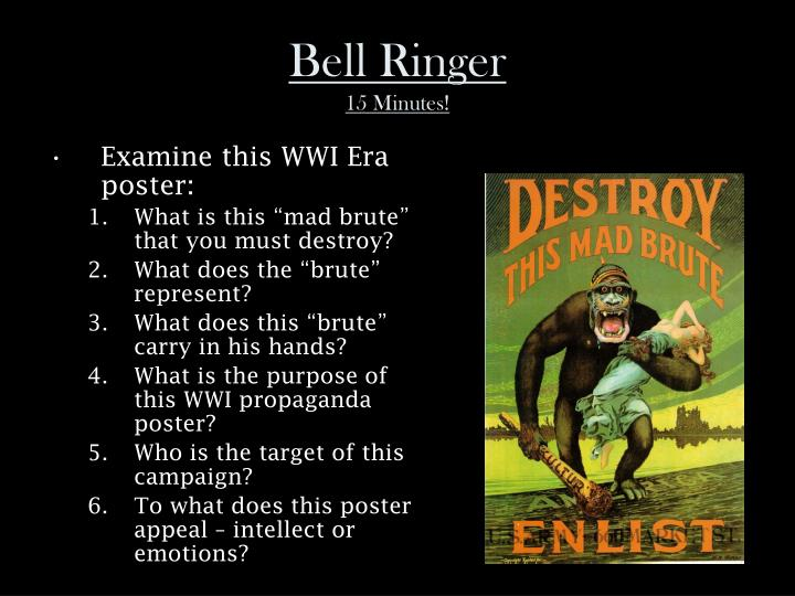 Bell ringer 15 minutes