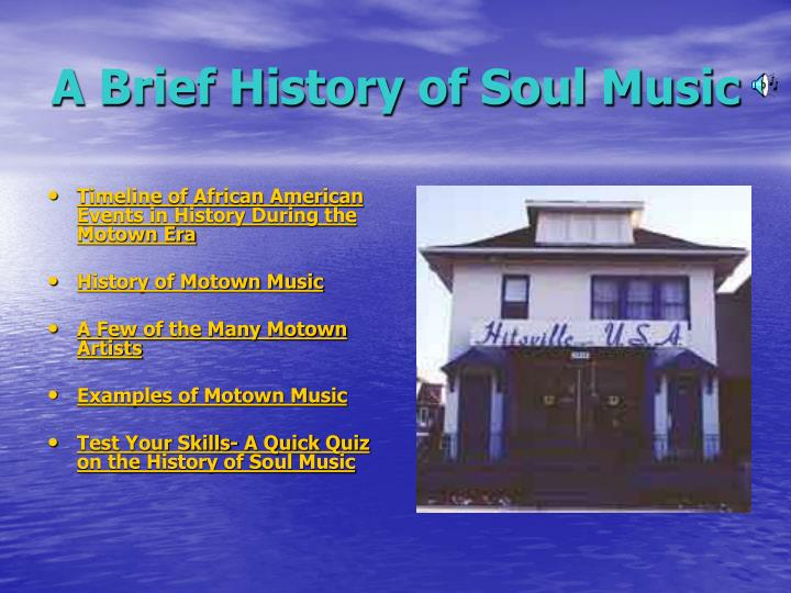 a brief history of soul music n.