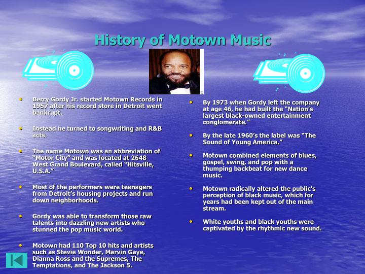 History of motown music