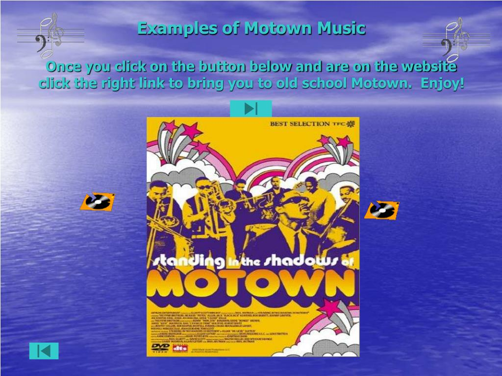 Examples of Motown Music