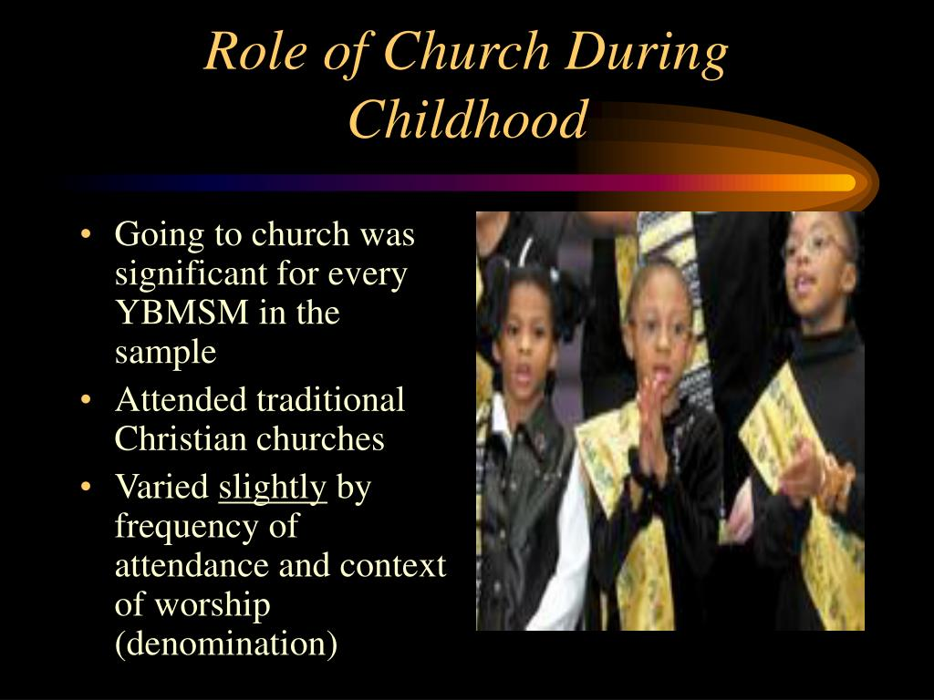 Going to church was significant for every YBMSM in the sample