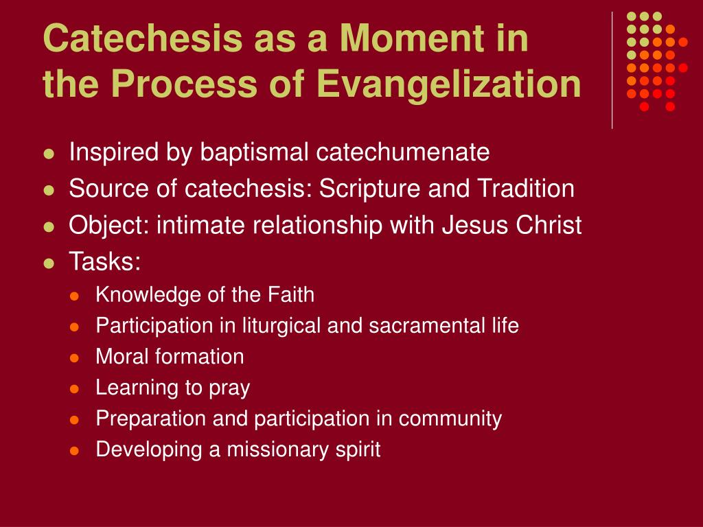 Catechesis as a Moment in