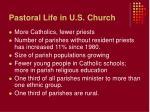 pastoral life in u s church