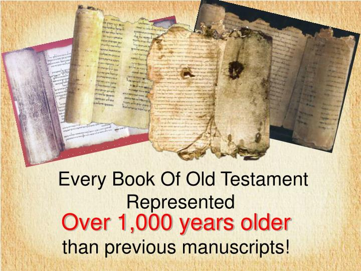 Every Book Of Old Testament Represented
