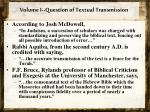 volume i question of textual transmission1