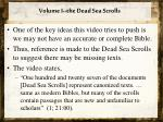 volume i the dead sea scrolls