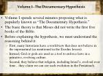 volume i the documentary hypothesis