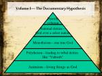 volume i the documentary hypothesis1