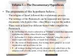 volume i the documentary hypothesis2