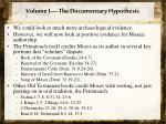 volume i the documentary hypothesis5