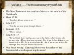 volume i the documentary hypothesis7