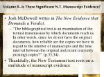 volume ii is there significant n t manuscript evidence1