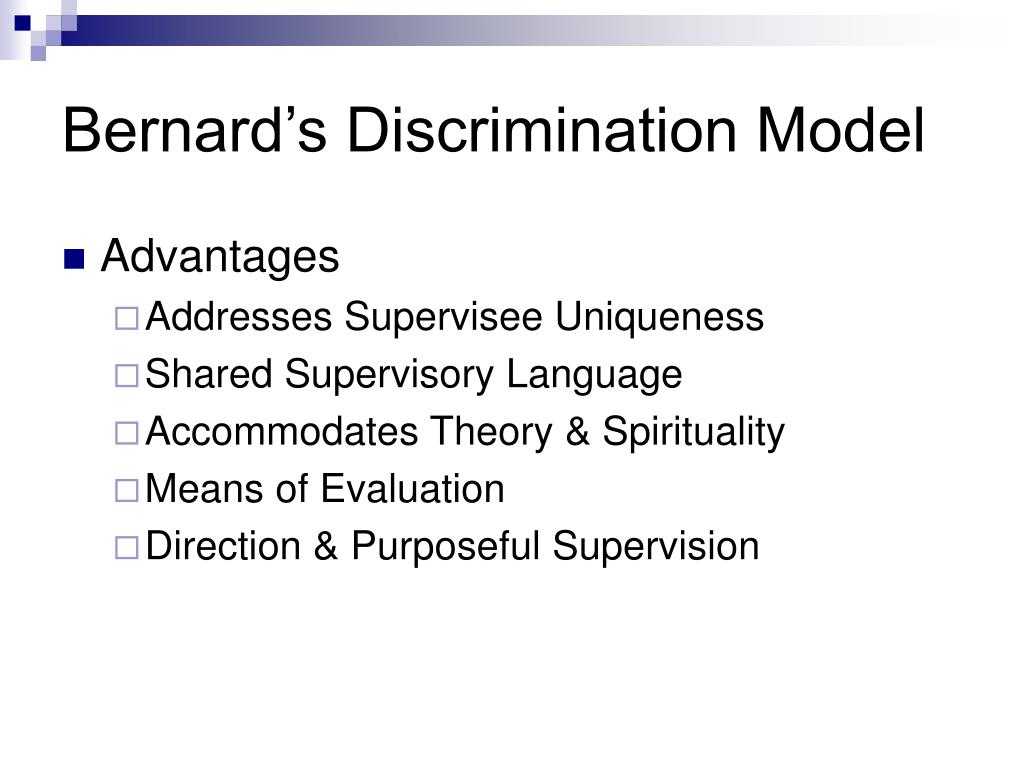 Bernard's Discrimination Model