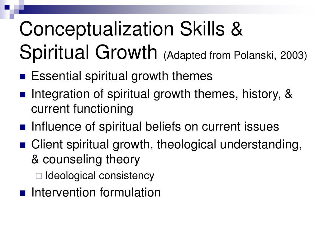 Conceptualization Skills & Spiritual Growth