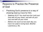 reasons to practice the presence of god42