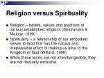 religion versus spirituality