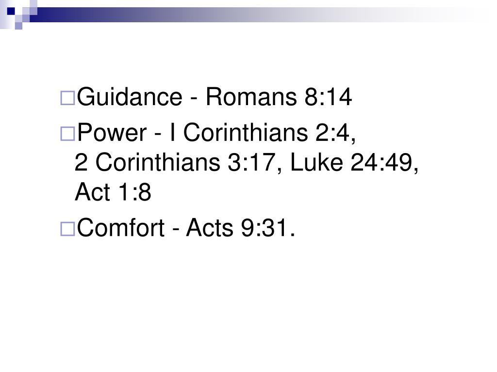 Guidance - Romans 8:14