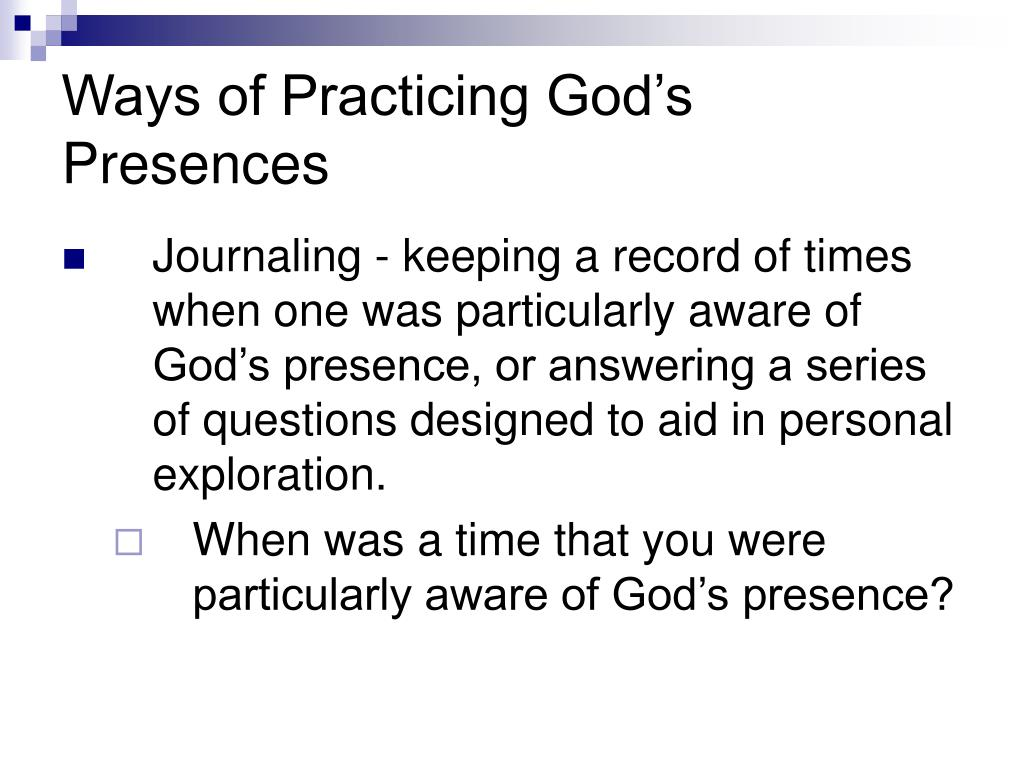 Ways of Practicing God's Presences