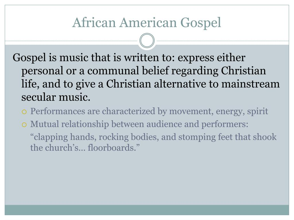 African American Gospel