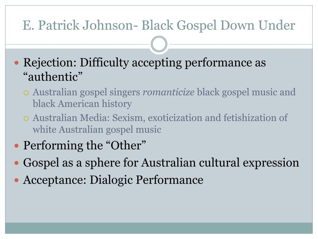E. Patrick Johnson- Black Gospel Down Under