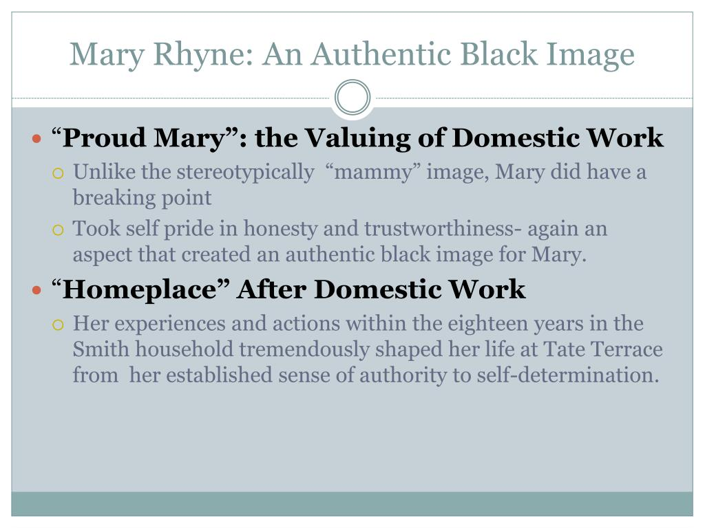 Mary Rhyne: An Authentic Black Image