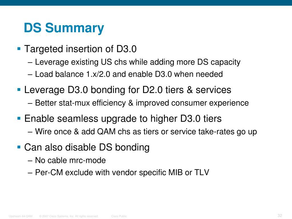 DS Summary