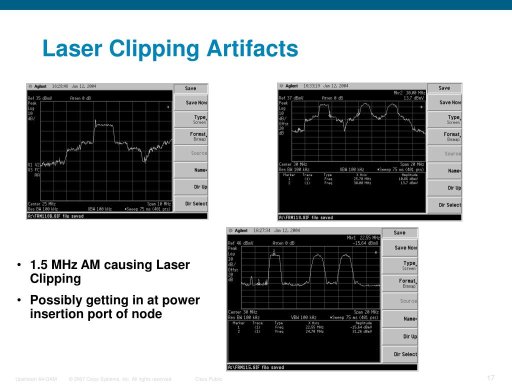 Laser Clipping Artifacts