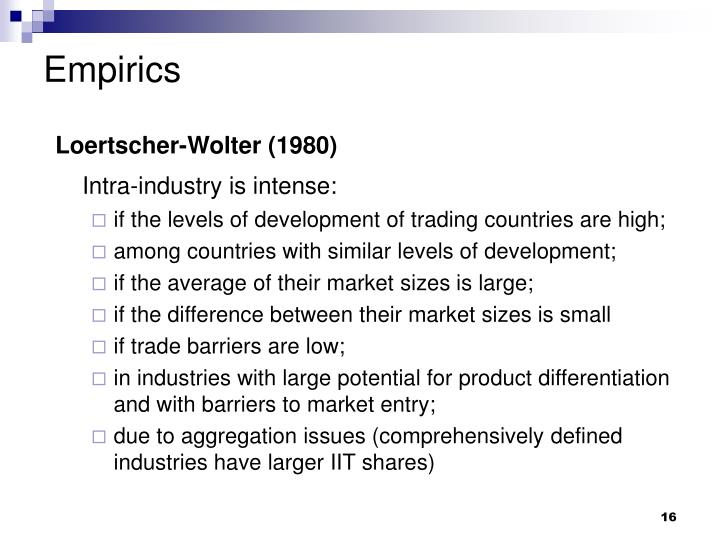 intra industry definition