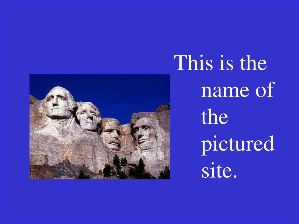 This is the name of the pictured site.