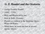 g f handel and the oratorio69